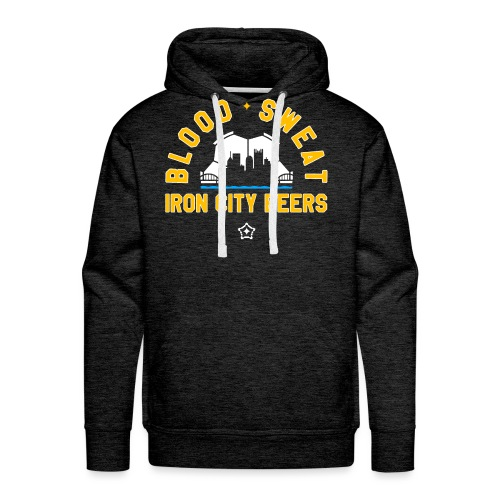 Blood, Sweat and Iron City Beers - Men's Premium Hoodie