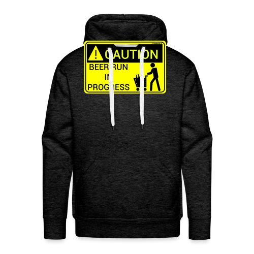 Caution Beer Run In Progress - Men's Premium Hoodie