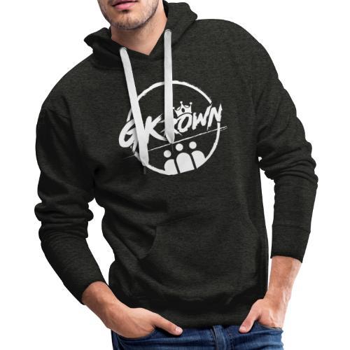 GKrown Logo White - Men's Premium Hoodie