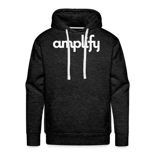 amplify logo// white - Men's Premium Hoodie