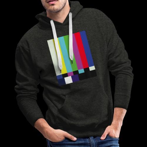 This is a TV Test | Retro Television Broadcast - Men's Premium Hoodie