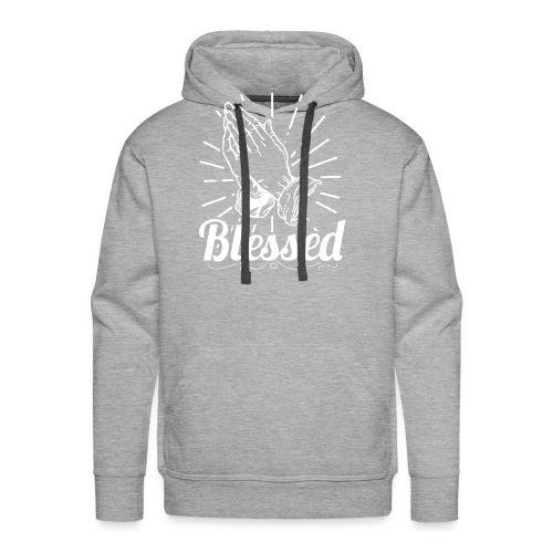 Blessed (White Letters) - Men's Premium Hoodie