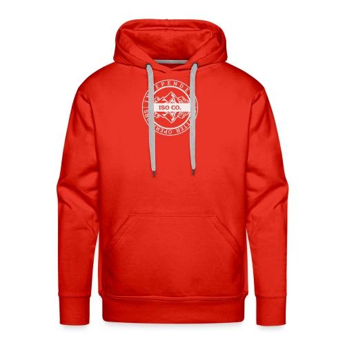 ISO Co. White Classic Emblem - Men's Premium Hoodie