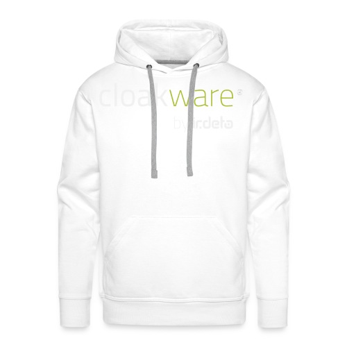 cloakware by irdeto white text png - Men's Premium Hoodie