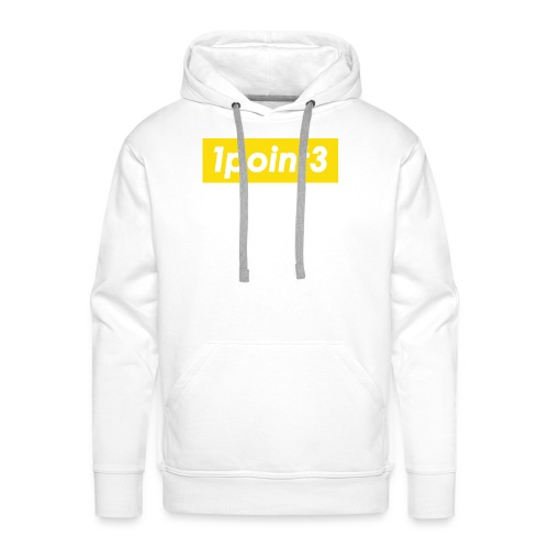 1point3 yellow - Men's Premium Hoodie