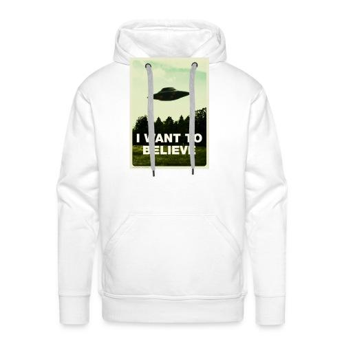 i want to believe (t-shirt) - Men's Premium Hoodie