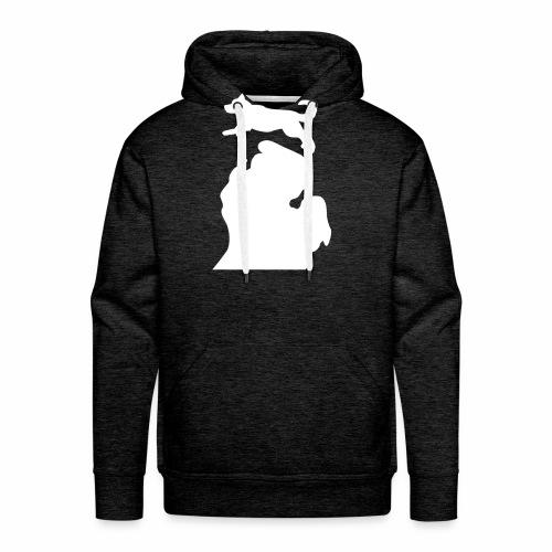 Bark Michigan Husky womens - Michigan Tech Colors - Men's Premium Hoodie