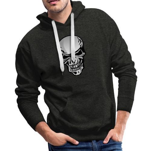Chrome Skull Illustration - Men's Premium Hoodie