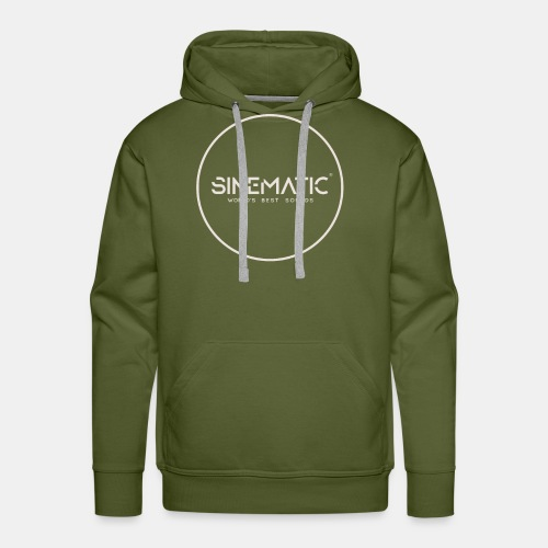 Logo Sinematic White on Black - Men's Premium Hoodie