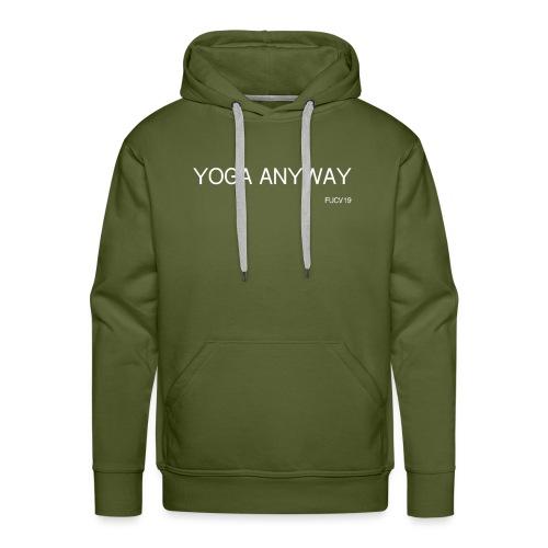 YOGA WHITE font - Men's Premium Hoodie