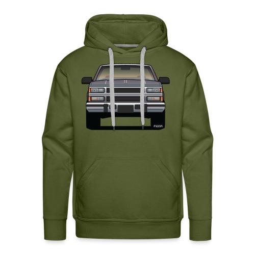 Design Icon: American Bowtie Silver Urban Truck - Men's Premium Hoodie