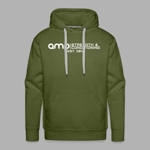 AMP Long Logo EST WHT - Men's Premium Hoodie