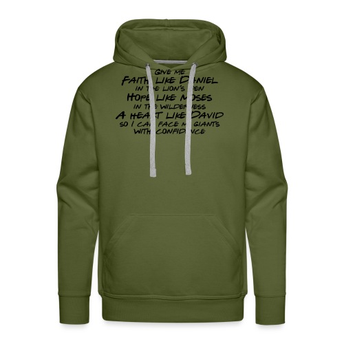 Face Your Giants with Confidence - Men's Premium Hoodie