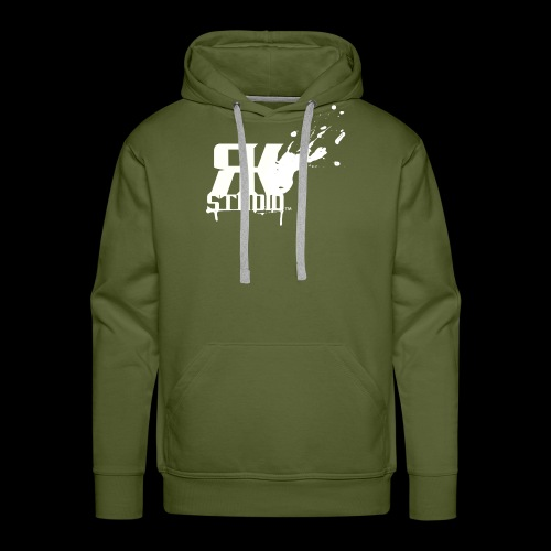 RKStudio White Logo Version - Men's Premium Hoodie