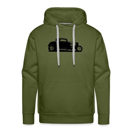 Classic American Thirties Hot Rod Car Silhouette - Men's Premium Hoodie