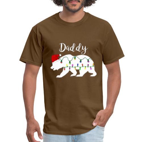 Mens Daddy Bear tshirt Christmas Matching Santa Ha - Men's T-Shirt