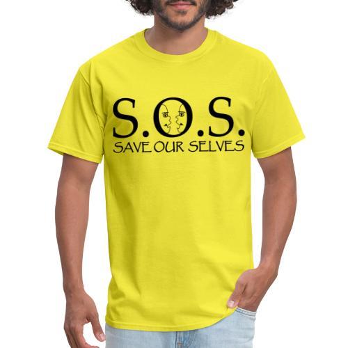 SOS Black on Black - Men's T-Shirt