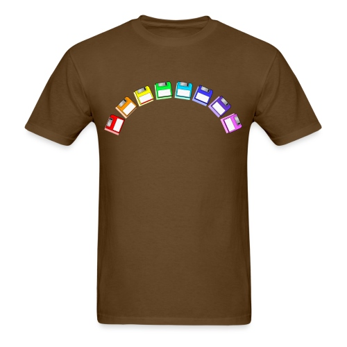floppy disk rainbow - Men's T-Shirt