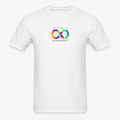 Embrace Neurodiversity with Swirl Rainbow - Men's T-Shirt