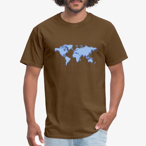 Blue Earth Map - Men's T-Shirt