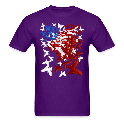 The Butterfly Flag - Men's T-Shirt