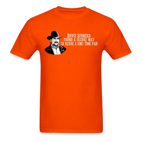 schneier5 cowboy white - Men's T-Shirt
