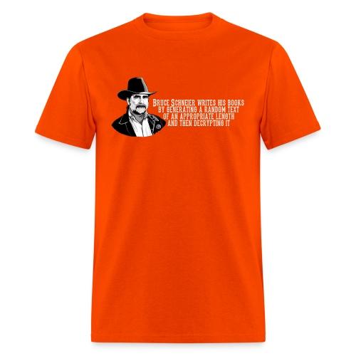 schneier21 cowboy white - Men's T-Shirt