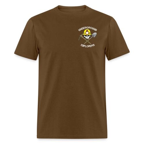 Miner Logo White Text 08 20 14 png - Men's T-Shirt