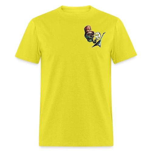 GuitarSmokingSkullLogo by GuitarLoversCustomTees p - Men's T-Shirt