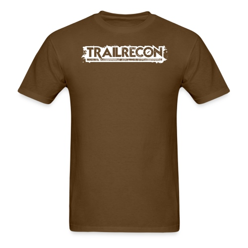 TrailRecon White Trimmed - Men's T-Shirt