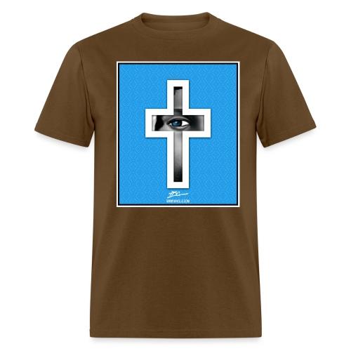 tdg cross light blue - Men's T-Shirt