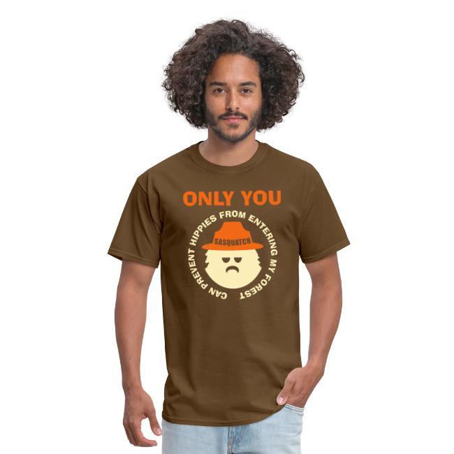Sasquatch Prevent Hippies in Forest