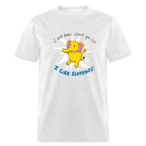 i like elephants 2000x2000 - Men's T-Shirt