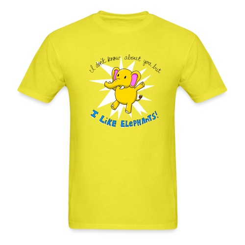 i like elephants 2000x2000 - Men's T-Shirt