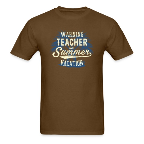 Summer Vacation blue yellow - Men's T-Shirt