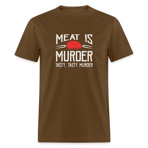 meat is murder vegan t shirt - Men's T-Shirt