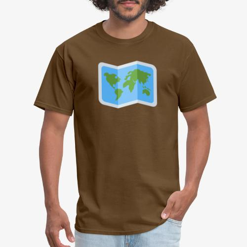 Awesome artsy Earth map - Men's T-Shirt