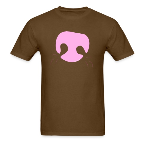 Pink Whimsical Dog Nose - Men's T-Shirt