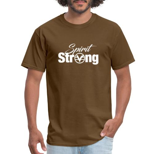 Spirit Strong Tee White (Women V Neck) - Men's T-Shirt