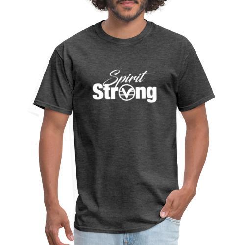 Spirit Strong Tee White (Women V Neck) - Men's T-Shirt