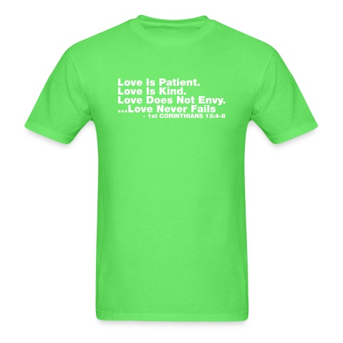 Love Bible Verse - Men's T-Shirt