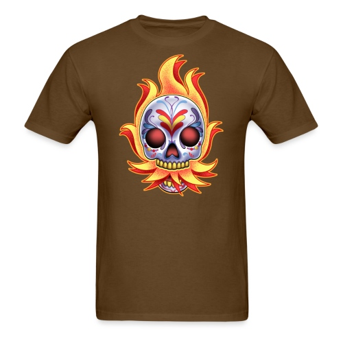 DoD Flame Skull by RollinLow - Men's T-Shirt