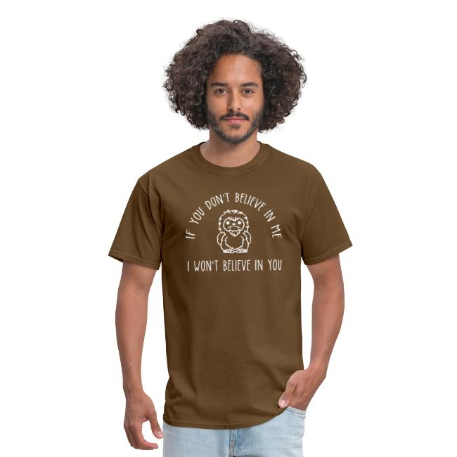 Believe Bigfoot Sasquatch Cute Chibi White Print