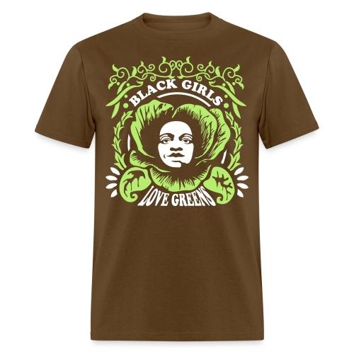 Black Girls Love Greens Women's Standard T-Shirt - Men's T-Shirt