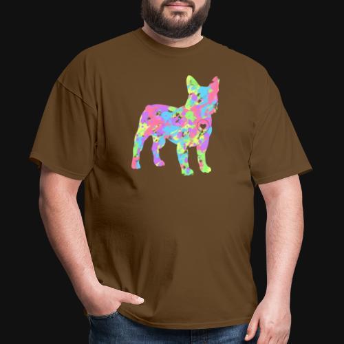 Frenchie love splatter - Men's T-Shirt