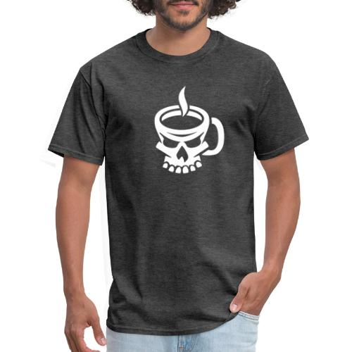Caffeinated Coffee Skull - Men's T-Shirt