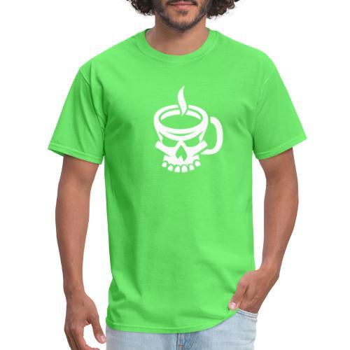 Caffeinated Coffee Skull - Men's T-Shirt
