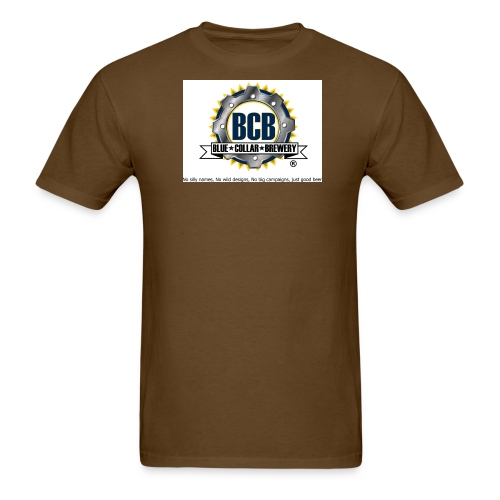 BCB Badge with R and slogan jpg - Men's T-Shirt