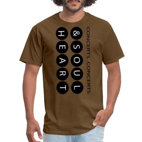 Heart & Soul concerts text design 2021 flip - Men's T-Shirt