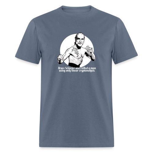 schneier1 martial white - Men's T-Shirt